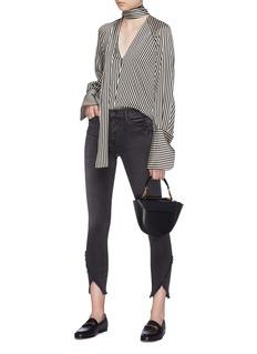 Frame Denim 'Le High Skinny' raw triangle cuff jeans