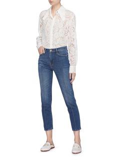 Frame Denim 'Le Nouveau' pintuck straight leg jeans