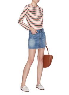 Frame Denim 'Le Mini' blind stitch hem denim skirt