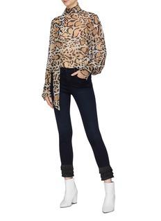 Frame Denim 'Le High Skinny' fringe cuff jeans