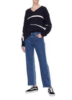Elizabeth and James 'Holden' colourblock frayed cuff jeans