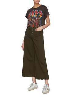 Elizabeth and James 'Carmine' frayed cuff wide leg jeans