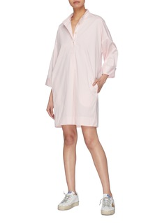 Elizabeth and James 'Fulton' mandarin collar half button placket shirt dress