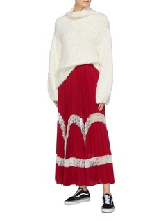 Elizabeth and James 'Regina' lace panel pleated skirt