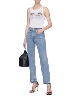 Helmut Lang Distressed cuff jeans