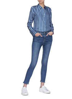 Theory Stripe silk twill shirt