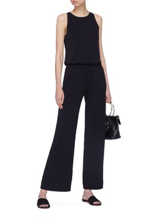Theory 'Midrelle' keyhole back drawstring wide leg jumpsuit