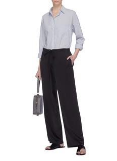 Theory 'Winszlee' wide leg silk satin pyjama pants