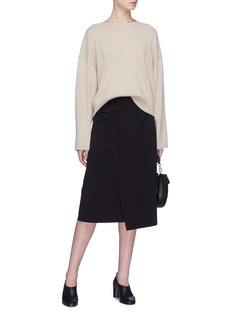 Theory Buckled wrap skirt