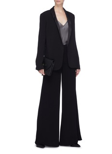 Theory 'Fluid' shawl lapel belted crepe blazer