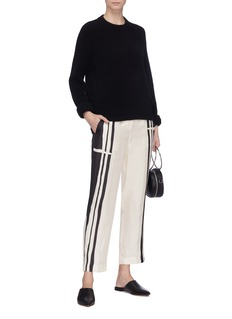 Theory Stripe silk twill pants