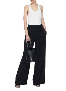 T By Alexander Wang Stripe outseam wide leg twill suiting pants