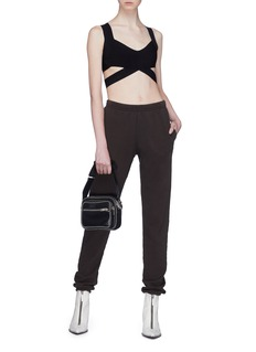 T By Alexander Wang Cutout strappy bralette