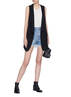 T By Alexander Wang Long open twill gilet