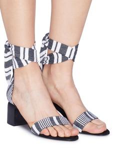 Pierre Hardy x lemlem 'Liya' ankle tie suede trim stripe sandals