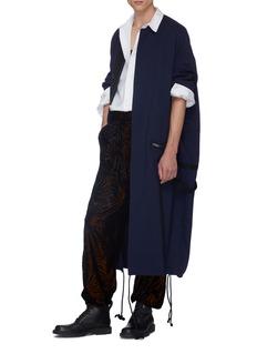 Haider Ackermann Palm leaf velvet flock print pyjama pants