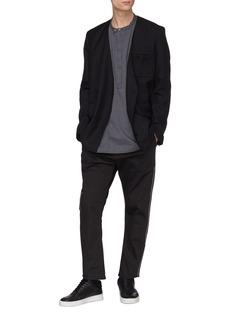 SIKI IM / DEN IM Mandarin collar pinstripe shirt