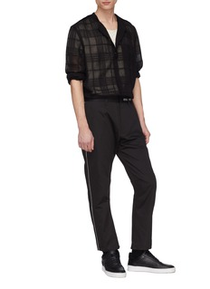 SIKI IM / DEN IM Tartan plaid semi-sheer shirt