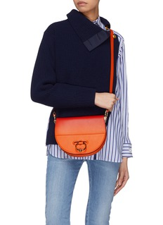 JW Anderson 'Latch' barbell ring ombré leather crossbody bag