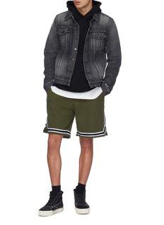 John Elliott Stripe border corduroy basketball shorts