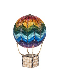 Judith Leiber Rainbow hot air balloon crystal pavé minaudière
