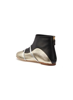 Malone Souliers 'Madison' strappy colourblock leather kids ankle boots