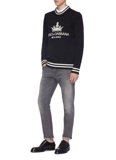 Dolce & Gabbana Crown logo intarsia cashmere sweater