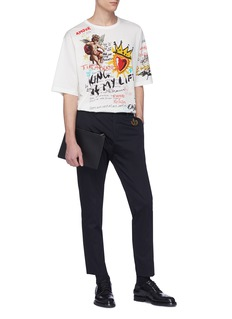 Dolce & Gabbana Graffiti print oversized T-shirt