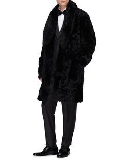 Dolce & Gabbana Belted lambskin shearling coat