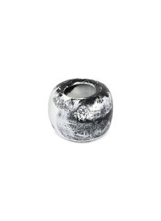Dinosaur Designs Atelier Boulder small vase –Black & Snow Swirl