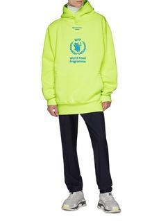 Balenciaga x World Food Programme slogan print oversized hoodie