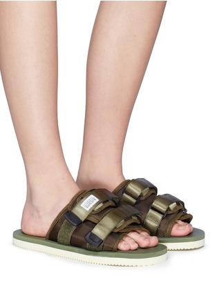 76142dea4 SUICOKE | 'MOTO-Cab' strappy band slide sandals | Women | Lane Crawford