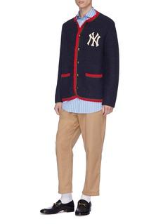 Gucci x Major League Baseball 'NY Yankees™' logo appliqué wool-alpaca jacket