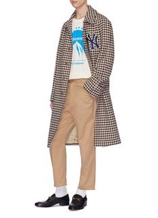 Gucci x Major League Baseball 'NY Yankees™' logo appliqué houndstooth coat