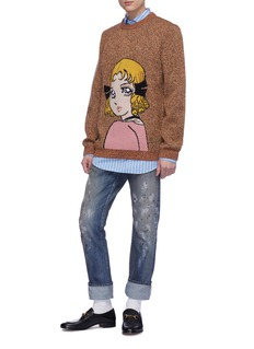 Gucci x Chikae Ide 'Viva! Volleyball' graphic intarsia wool sweater