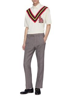 Gucci x Major League Baseball 'LA Angels™' logo appliqué polo shirt