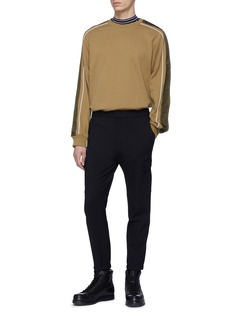 3.1 Phillip Lim Satin stripe sleeve sweatshirt