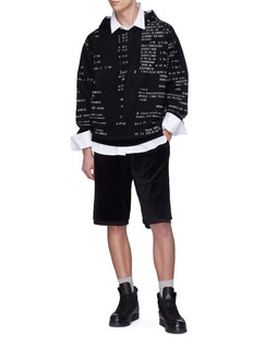 3.1 Phillip Lim Layered cuff velour shorts