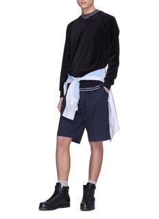 3.1 Phillip Lim Contrast waist virgin wool shorts