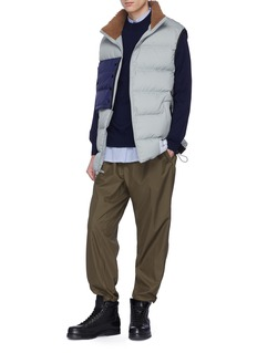 3.1 Phillip Lim Contrast chest pocket oversized down puffer vest