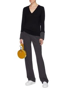 Equipment 'Ursala' polka dot print cuff wool sweater