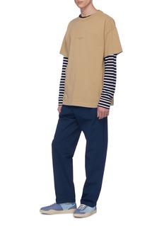 Acne Studios Logo print garment dyed oversized T-shirt