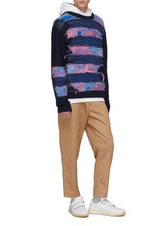 Acne Studios Abstract stripe panel boxy sweater