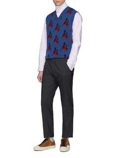 Acne Studios 'Ohio Face' patch stripe Oxford shirt