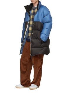 Acne Studios Colourblock oversized down puffer jacket
