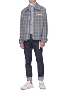 Acne Studios Check plaid shirt jacket