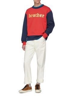 Acne Studios 'Brother' print colourblock sweatshirt