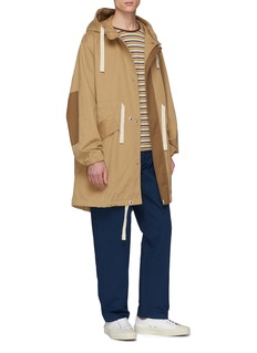 Acne Studios Drawstring hooded twill coat