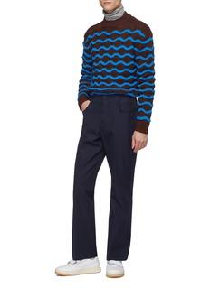 Acne Studios Chunky wavy stripe wool sweater