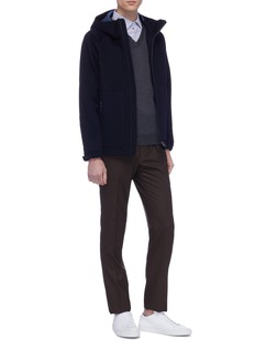Altea Contrast elbow patch virgin wool sweater